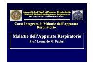 Introduzione al Corso - Clinica malattie apparato respiratorio