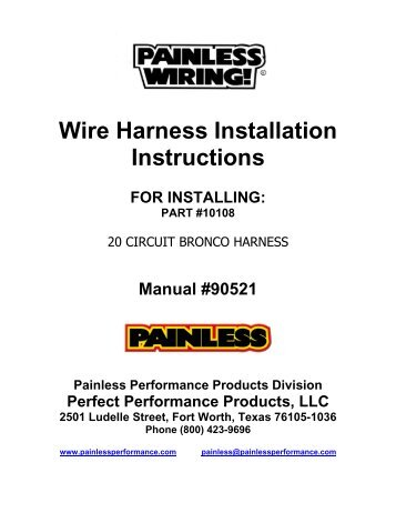 wire harness installation instructions painless wiring?quality=85 fitting instructions forn wiring harness installation instructions at gsmportal.co