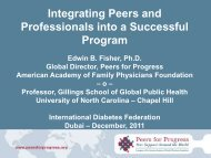 Integrating Peers And Professionals In A Successful Program