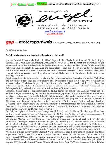 25 jahre – büro für öffentlichkeitsarbeit im motorsport - gerd plietsch ...
