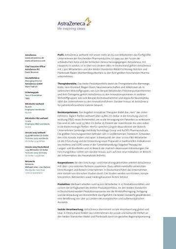 AstraZeneca - Life Science Guide Nord