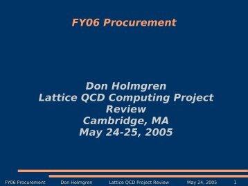 FY06 Procurement