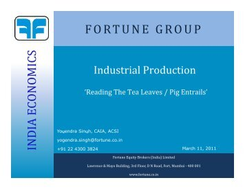 FORTUNE GROUP - Fortune Financial Services