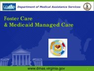 Foster Care & Medicaid Managed Care - Department of Medical ...