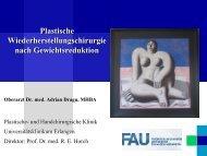 Entwicklung Postbariatrische Plastische Operationen (Erlangen)