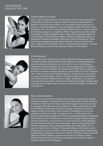 Les danseurs du BaLLet de L'Onr Virginie Bigois-Freches erika ...