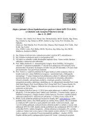 Zápis z jednání, 4.12.2009 - Společnost pro pojivové tkáně
