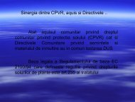 Sinergia dintre CPVR, Aquis si Directive - amsem