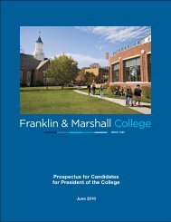 Prospectus for Candidates for President of the College