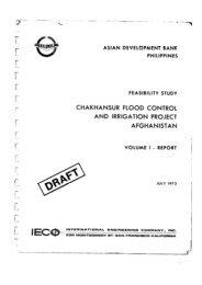 Chakhansur Flood Control & Irrigation Project Afghanistan