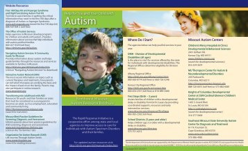 NW Resource Brochure - Missouri Department of Mental Health