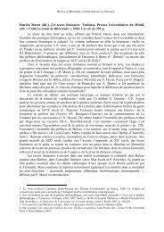 Les textes liminaires. Sous la direction de Patrick Marot. Presses ...
