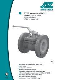 Type MONOBLOC - NVN2 Ball-Valve with FEP / PFA – lining