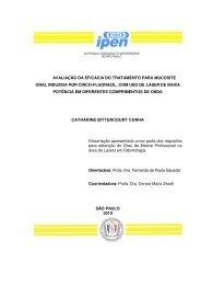 Avaliação da eficácia do tratamento para mucosite oral - Ipen