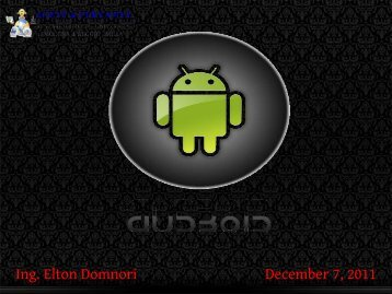 Ing. Elton Domnori December 7, 2011 - Agentgroup