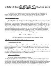 Enthalpy of Reaction, Electrode Potential, Free Energy Change and ...