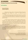 XIV KONGRES Polskiego Towarzystwa Gastroenterologii - Page 5