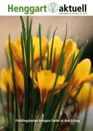 Frühlingsboten bringen Farbe in den Alltag - Primarschule Henggart