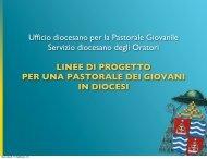 Ufficio diocesano per la Pastorale Giovanile ... - ArezzoGiovani.it
