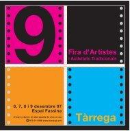 Llibre fira 07 traç - Ajuntament de Tàrrega