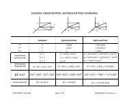 Cartesian, Cylindrical Polar, and Spherical Polar Coordinates