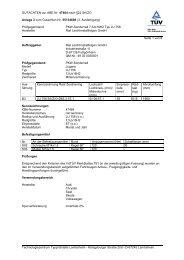 GUTACHTEN zur ABE Nr. 47464 nach §22 StVZO Anlage 3 zum ...