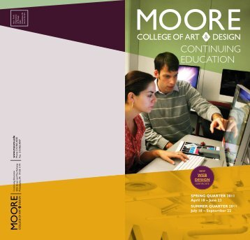 Continuing EduCation - Moore College of Art and Design