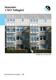 Husorden 1-1011 Toftegård - Boligforeningen 3B