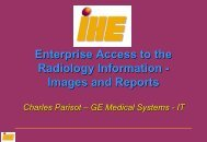 Images and Reports - IHE in Europe