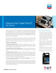 Chevron Ursa® Super Plus EC - CBS Parts Ltd.