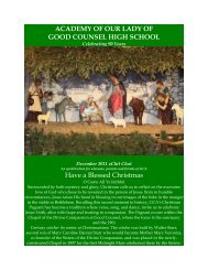 ACADEMY OF OUR LADY OF GOOD COUNSEL HIGH SCHOOL ...