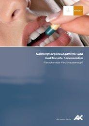 Nahrungsergänzungsmittel und funktionelle Lebensmittel - AK - Tirol
