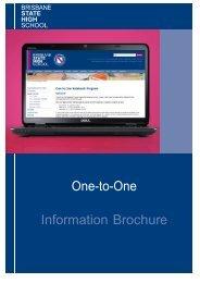 One-to-One Information Brochure - Brisbane State High School ...
