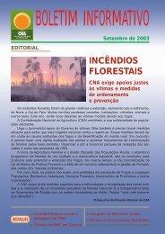 Boletim Informativo Setembro de 2003 - CNA