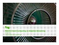 Mobile Cloud Computing & Adaptive Streaming