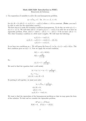 Pde homework solutions