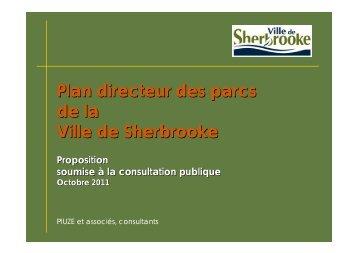 Présentation du plan directeur des parcs - Ville de Sherbrooke