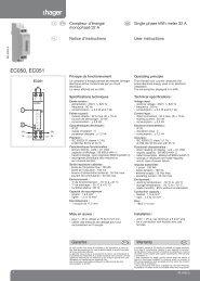 LF universelle/ Hager tehalit /Cha/îne distribution LFF 60/x 150/mm PVC Blanc Neige