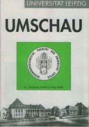 Umschau Heft 9 - Freundeskreis - Universität Leipzig