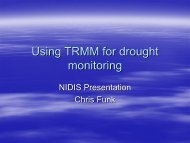 Using TRMM for drought monitoring - US Drought Portal