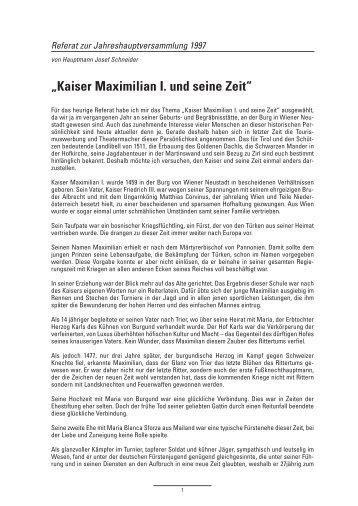 Kaiser Maximilian I. und seine Zeit - Zirl