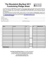 Pledge Form - Donn Bennett Drum Studio