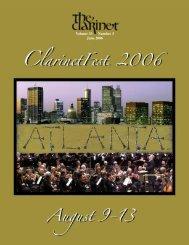 Volume 33 Number 3 June 2006 - International Clarinet Association