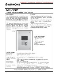 AIPHONE MK-DGV Vandal Resistant Video Door Station From LEE ...