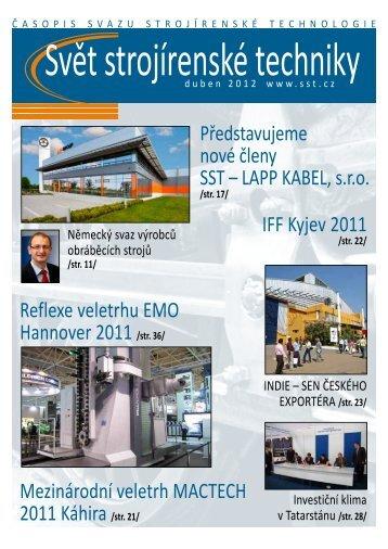 Svět strojírenské techniky číslo 1/2012 (PDF, 11.64 MB) - Svaz ...