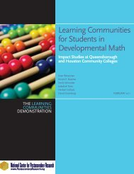 Full Report (PDF) - National Center for Postsecondary Research