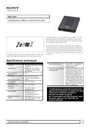 Sony : Informations produit : SBAC-US10 (SBACUS10) : France