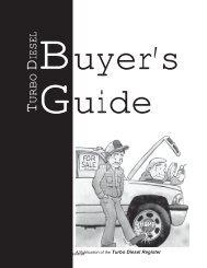 Buyer's Guide - Turbo Diesel Register