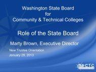 System Legislative Update -- Role of the State Board - Washington ...