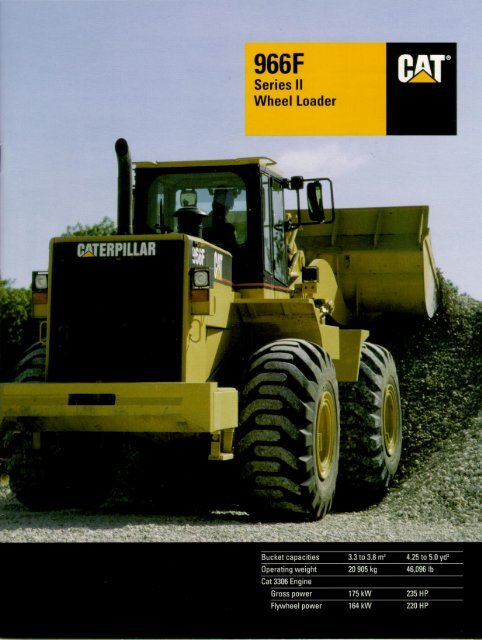 966F Series II Wheel Loader - Lectura SPECS